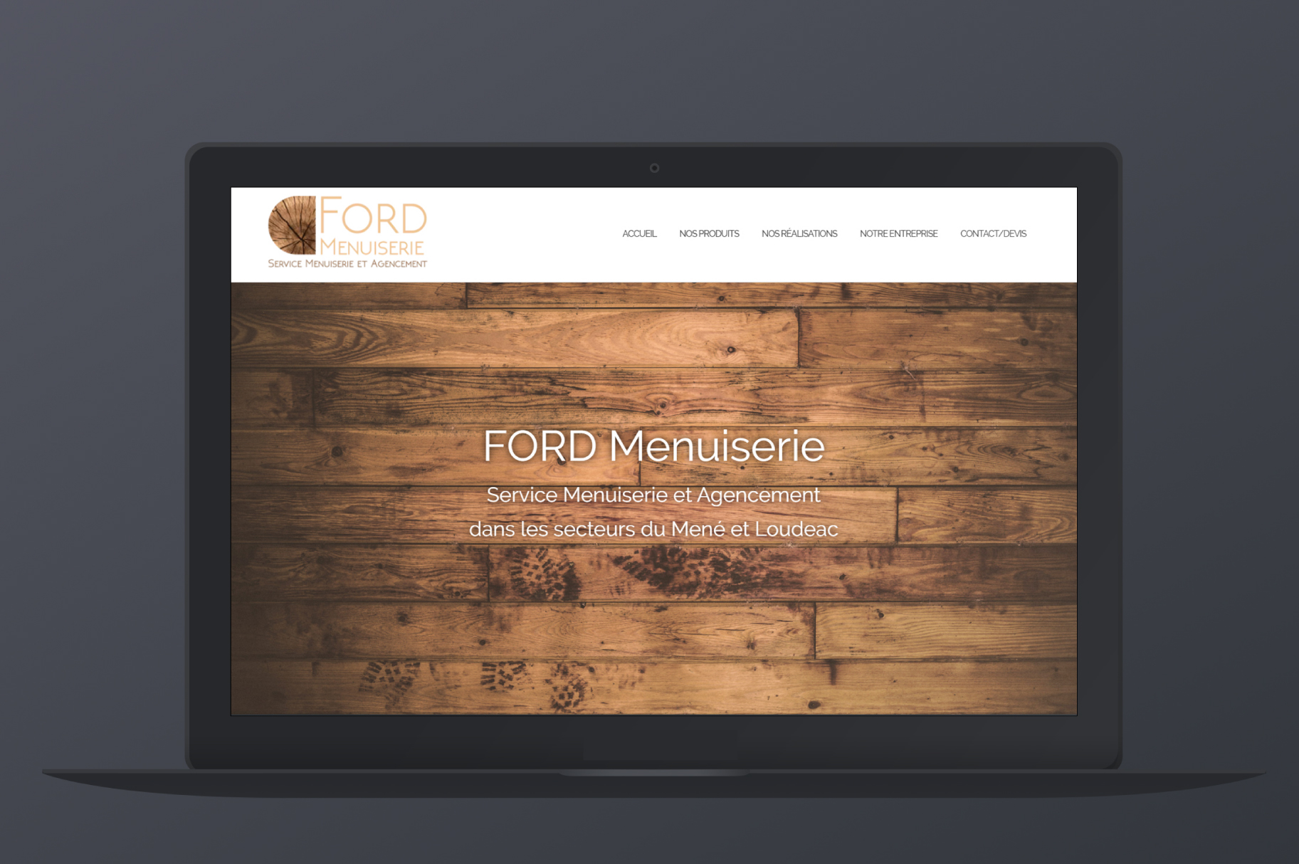 Site web Ford Menuiserie