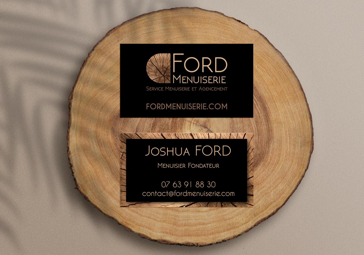 Carte de visite Ford Menuiserie