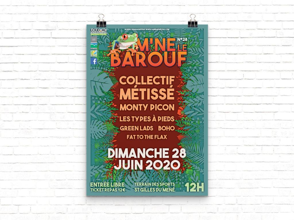 Affiche M'né le Barouf 2020